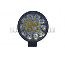 Фара LED круглая 42W 6000K (14 диодов) (8.5см х 8.5см х 1.5см)