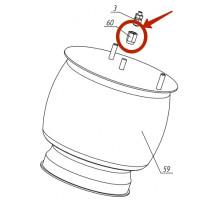 Переходник фитинга крышки пневмобаллона (тарелки)