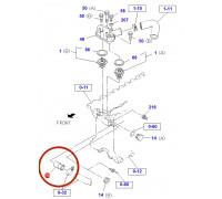 Штуцер трубки водяного насоса 4HF1/4HG1/4HG1-T/4HK1 (байпас)
